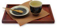 黒呉須シリーズ フリーカップ麦 4寸皿